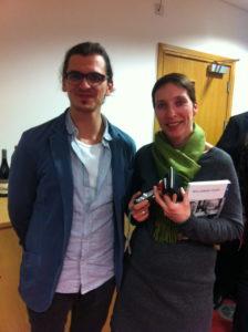 Editor Sabine Egger, and Student