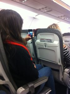 Dragana_Selfie_on_plane