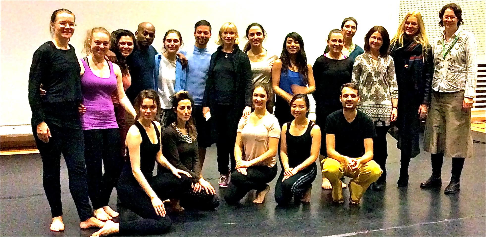 Group picture, with choreographer Marguerite Donlon and dance students